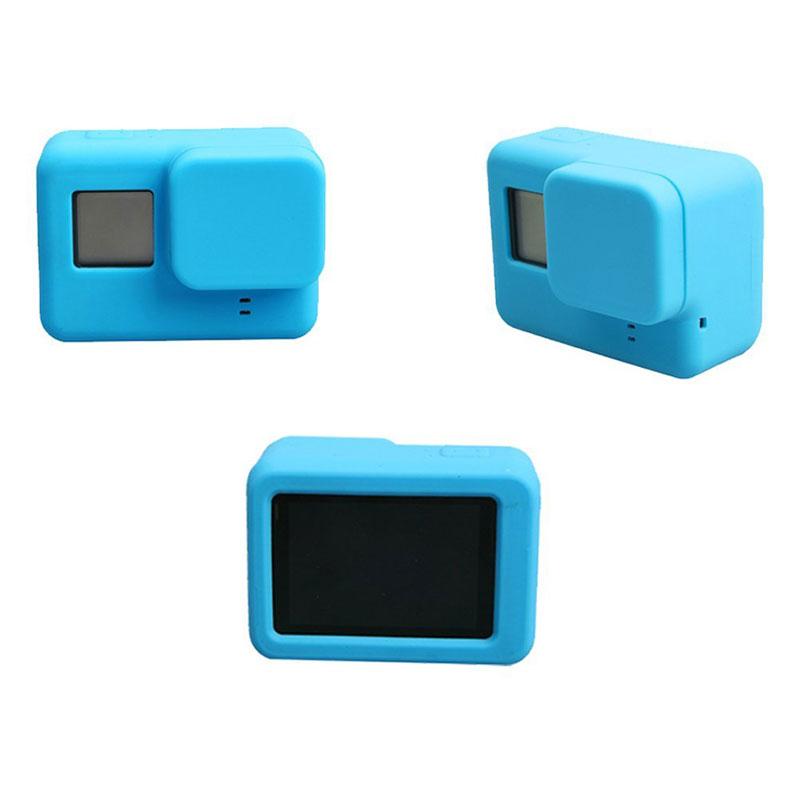 Для Go Pro Аксессуары Действий Камеры Чехол Защитный Силиконовый Чехол +Крышка Объектива Для GoPro Герой 5 6 7 Черный Герой Камеры