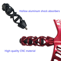Archery Bow Stabilizer CNC Aluminum Hollow Stabilizer TPR Rubber Damper Hunting 5 Inch Recurve Bow Absorber Shock Silencer