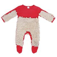 Baby Clothes Mop Romper Outfit Unisex Infant Boy Girl Polishes Floors Cleaning Mop Suit Baby Crawls