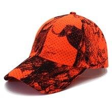 Оранжевая шляпа для охоты, рыбалки, камуфляжная кепка, регулируемая бейсболка для мужчин
