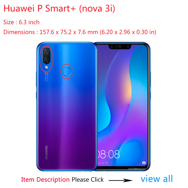 US $3 15 10% OFF|For Coque Case On Huawei P Smart Plus 6 3 Cases For Huawei  Nova 3i P Smart+ Cover Leather Silicone Soft Luxury Shockproof Blue-in