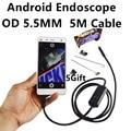 O Mais Recente 5.5mm 6 LEDs Smartphone Android USB Endoscópio IP67 À Prova D' Água Câmera de Inspeção Com 5 M de Cabo OTG Android Borescope