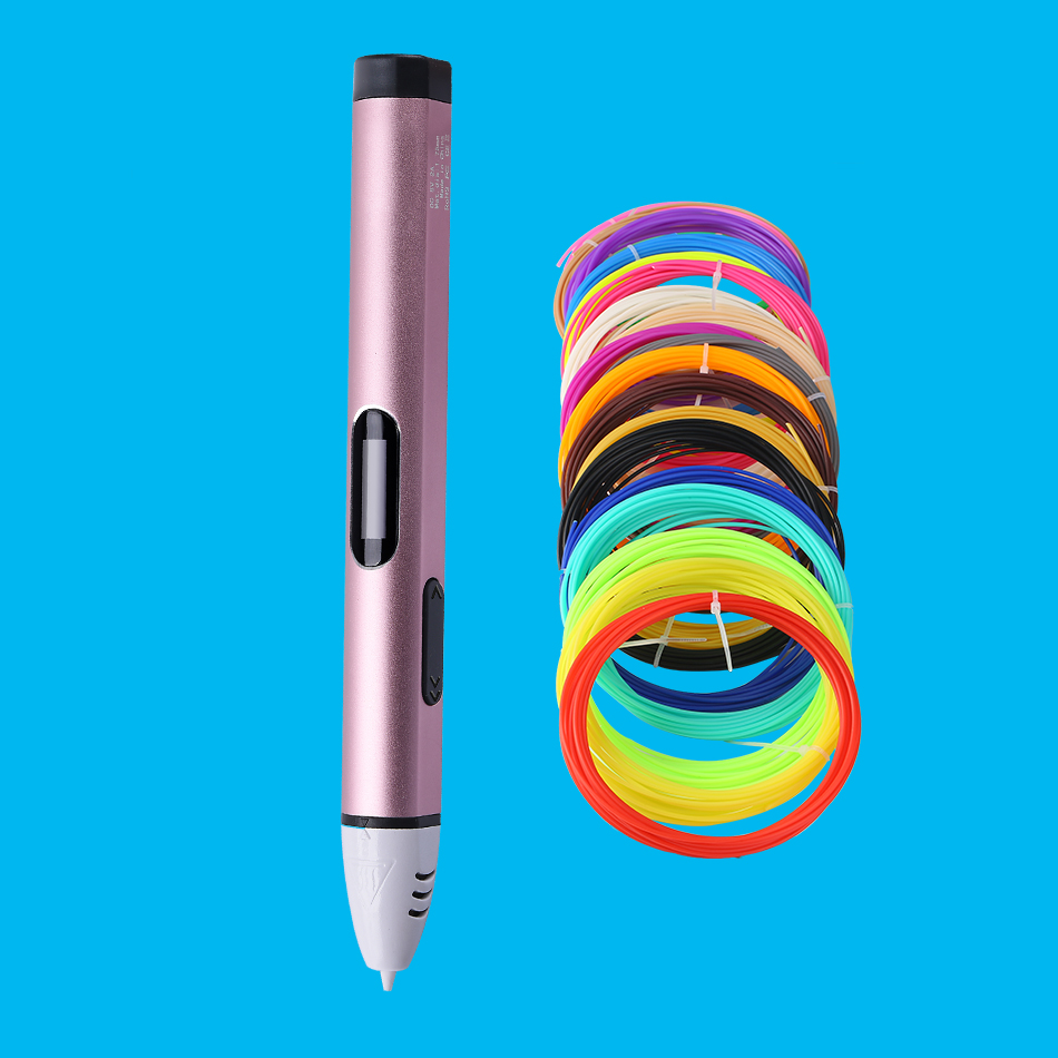 2017 Original USB plug 3D pen low temperature with PCL ordinary version with PLA ABS \ christmas gifts fast epacket dewang newest 3d pen wiht usb cable low temperature free 9m abs pla child gift for imagination