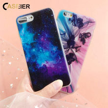 CASEIER Colorful Patterned Case For iPhone 7 8 6s 6 Plus Soft TPU Back Cases For iPhone X Xr Xs Max 5 5s SE Coque Accessories цена и фото