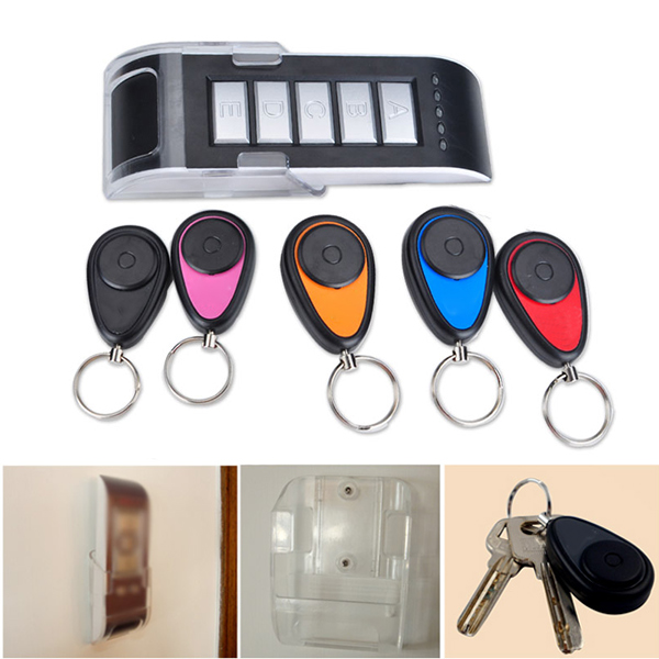 Wireless Finder Lost Key Wallet 5 In 1 Locator Receiver Durable Alarm Keychain LCC77 new arrival fashion design 2 in 1 alarm remote wireless key finder seeker locator find lost key 2 receiver anti lost alarm
