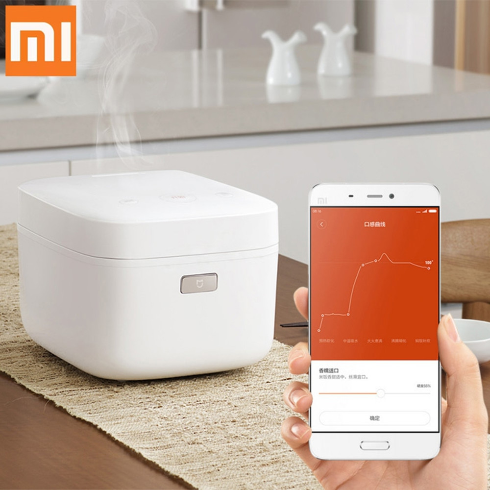Xiaomi Smart Home Electric Rice Cooker 3L alloy cast iron IH Heated Lunch Box Cooker Multicooker Kitchen APP WiFi Control xiaomi ih 3l smart electric rice cooker
