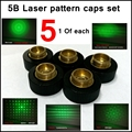 [ReadStar]5PCS/SET 5B Laser pattern cap image heads picture showing cap 5 patterns 1 of each cap for 017 018 303 851 etc. Lasers