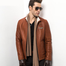 2015 Air power Man's Fur Coat  Male Sheepskin jacket Men's leather-based jackets Men's leather-based A jacket