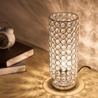 E27/E26 LED high grade decorative crystal table lamp Silver Bedroom Lampshade Decoration bedside lampara EU/US/UK/AU/JP Plug