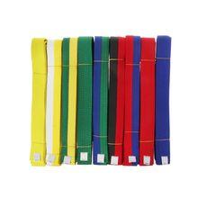 9 colors Professional Taekwondo Belt Karate Judo Double Wrap Martial Arts Stripe Sports 1.8m/2.8m