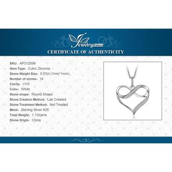 Infinity Love Heart Silver Pendant Necklace  Sterling Silver Statement Necklace  5