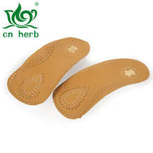 Cn Herb leather arch half pad Flat feet Arch foot insoles Men and women orthopaedic three-quarters correction antiskid plus