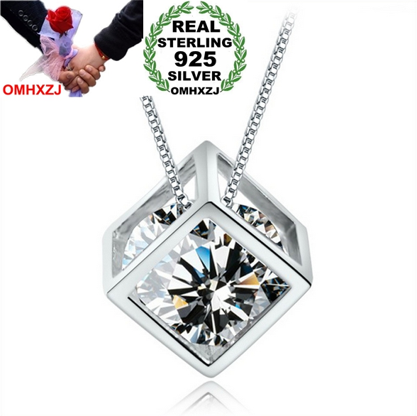 OMHXZJ Wholesale geometric woman  magic cube Fashion kpop AAA zircon 925 sterling silver NO Chain Necklace pendant Charms PE05OMHXZJ Wholesale geometric woman  magic cube Fashion kpop AAA zircon 925 sterling silver NO Chain Necklace pendant Charms PE05