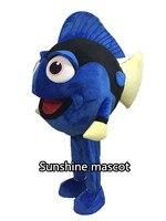 Талисман в поисках Немо blue fish талисман обычай Необычные костюмы аниме косплей Немо и Дори талисман тема маскарадный карнавальный костюм