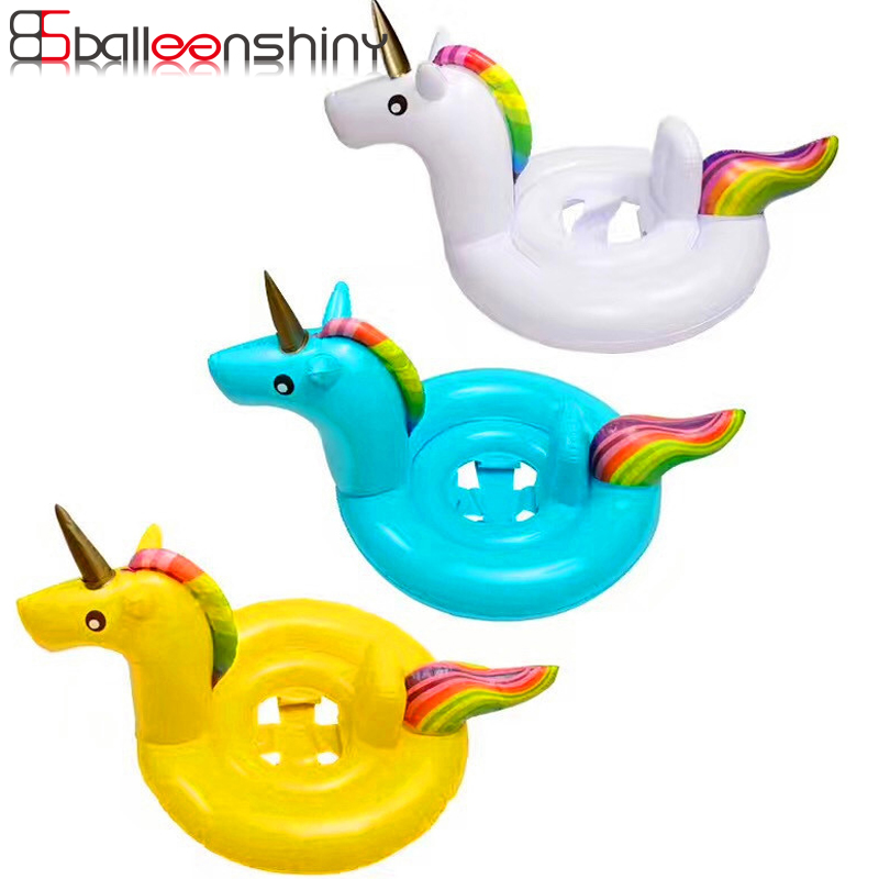 BalleenShiny Unicorn Swimming Float Baby Summer Swimming Pool Children Kids Inflatable Water Pool Toys Swimming Ring Hot Sale