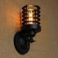 Industrial Portuguese Style Antique Black Mini Wall Lamp Swing Arm Wall Lighting For Workroom Bathroom Vanity