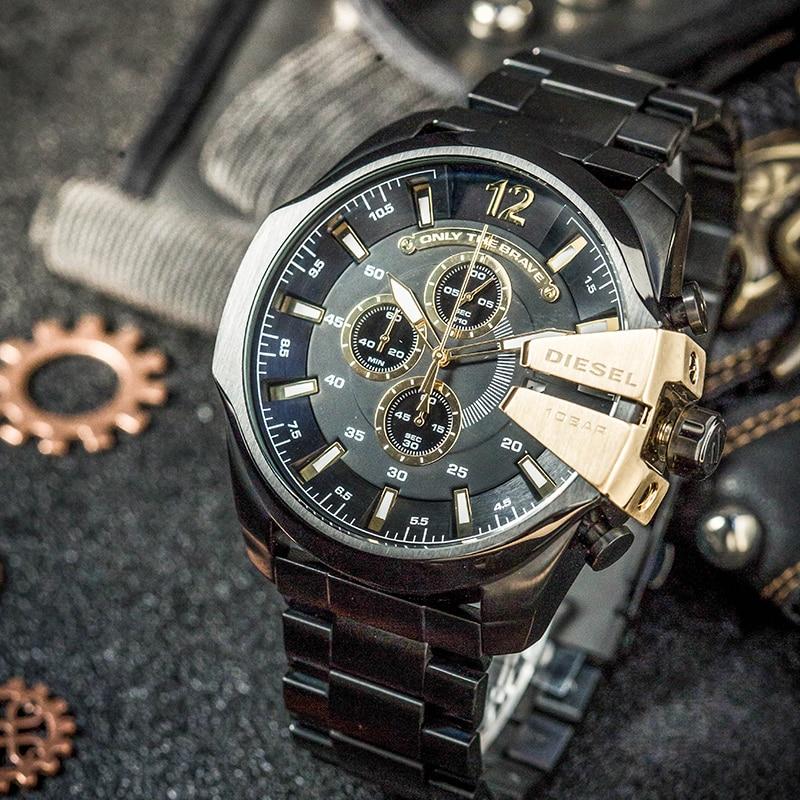 Serie del oficial del Diesel CHIEF oro negro timequartzite Reloj - Relojes para hombres - foto 2