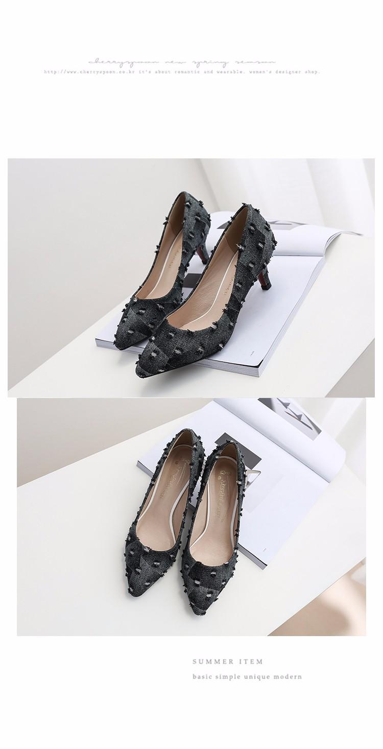 New arrival Denim Ladies Shoes pointed toe high heels Free Shipping! HTB1xScLSpXXXXXsapXXq6xXFXXXD