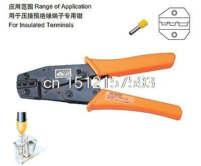 Insulated Terminals Crimping Tools Ratchet Plier Crimper 6-16mm2 AWG10-6 pneumatic crimping tools plier with 15 sets of dies