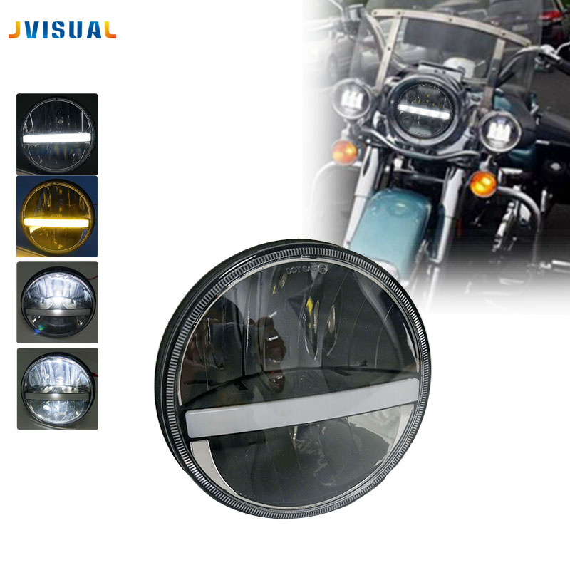 7 inch Headlight With Strip light Headlamp 7 LED Head Driving Light Motorcycle Motorbike for Harley Davison Street Fighter 7 inch motorcycles headlight for harley davison choppers