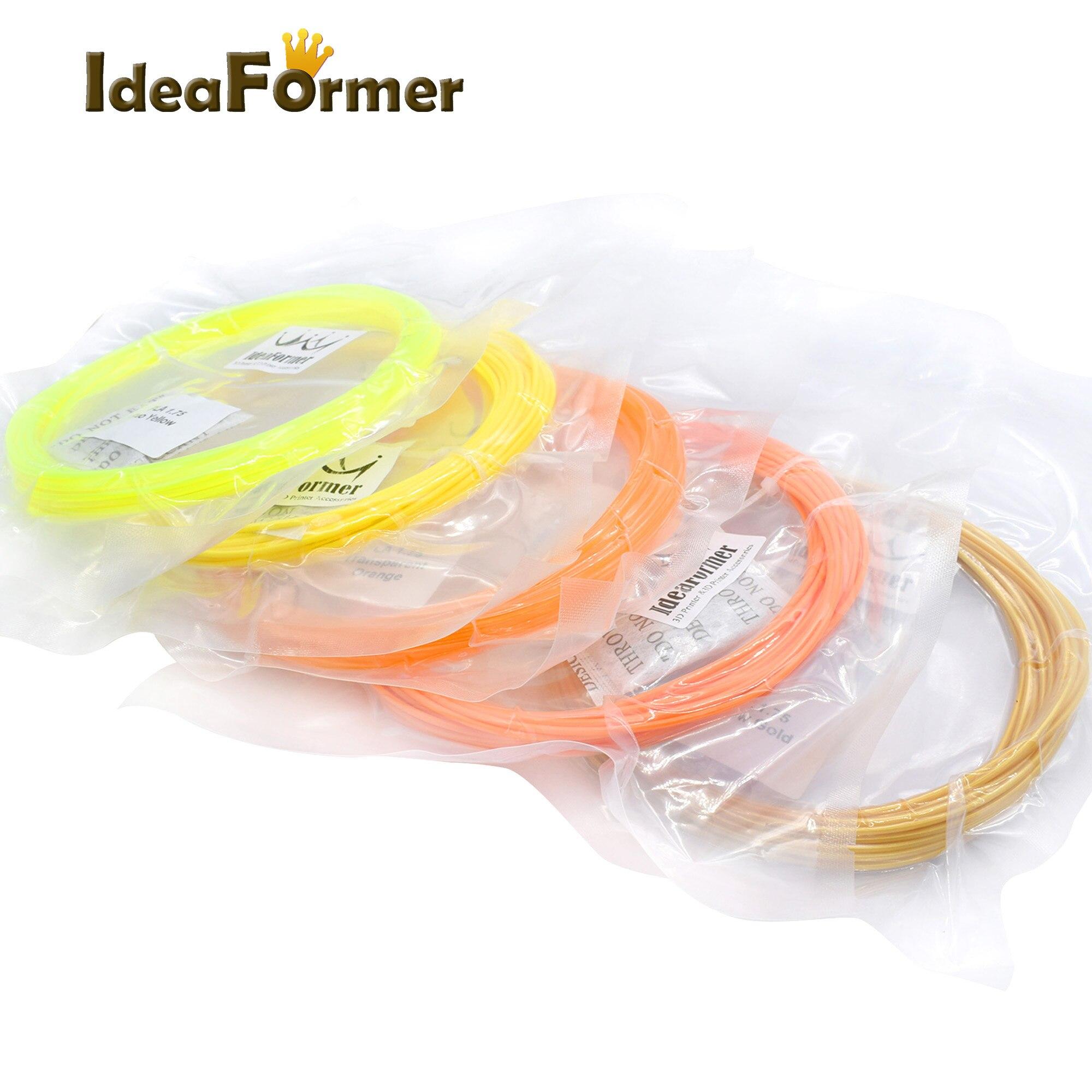 PLA filament 10M in lenght Diameter 1.75mm for 3D printing pen and 3D printer parts 1 75mm pla 3d printer filament printing refills 10m