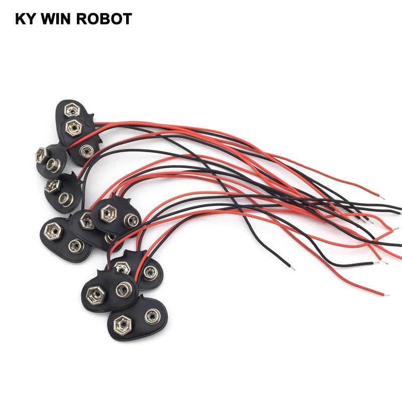 nouveau-haute-qualite-t-type-10pc-9v-cc-batterie-cable-d'alimentation-conduit-cordon-prise-pince-jack-connecteur-pour-font-b-arduino-b-font-bricolage
