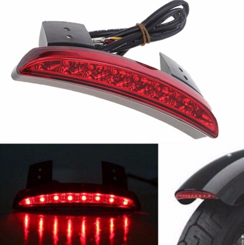 Red Chopped Fender Edge LED Tail Light For Harley Davidson XL Sportster 883 1200