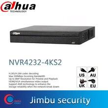 Dahua NVR 4K 비디오 레코더 32CH NVR4232 4KS2 H.265/H.264 미리보기 및 재생을위한 최대 8MP 해상도 IP 카메라 계산