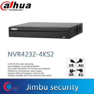 Image 1 - Dahua NVR 4K Video Recorder 32CH NVR4232 4KS2 H.265/H.264 Up to 8MP Resolution for Preview & Playback People Counting IP Camera