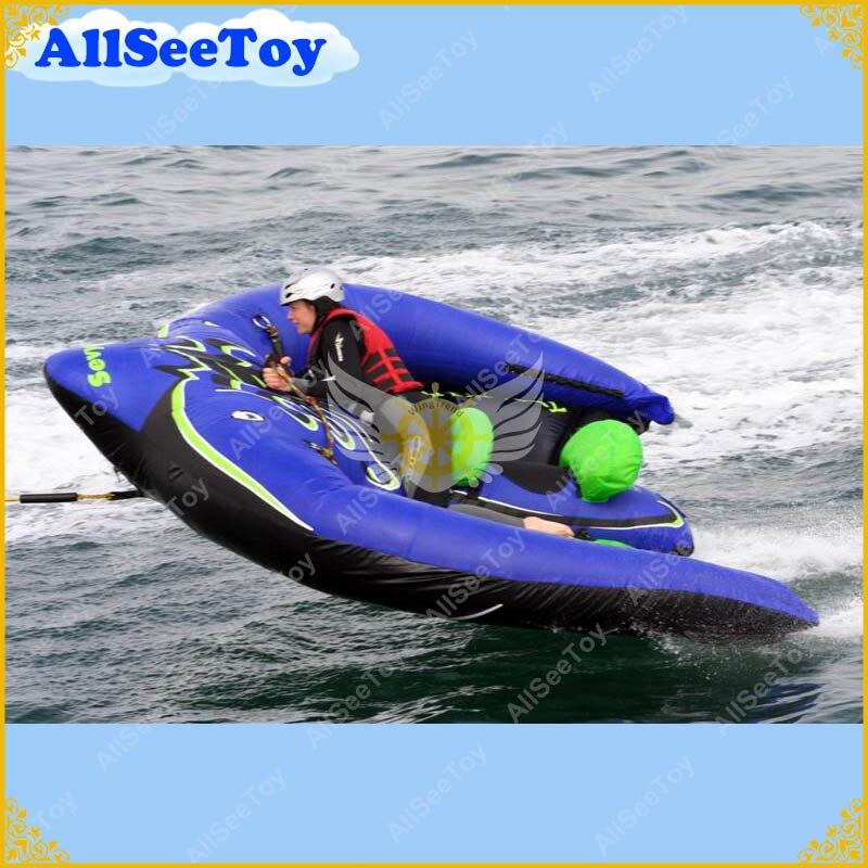Rayon volant gonflable remorquable de qualité commerciale pour le jeu de l'eau, pompe à Air incluse et livraison gratuite