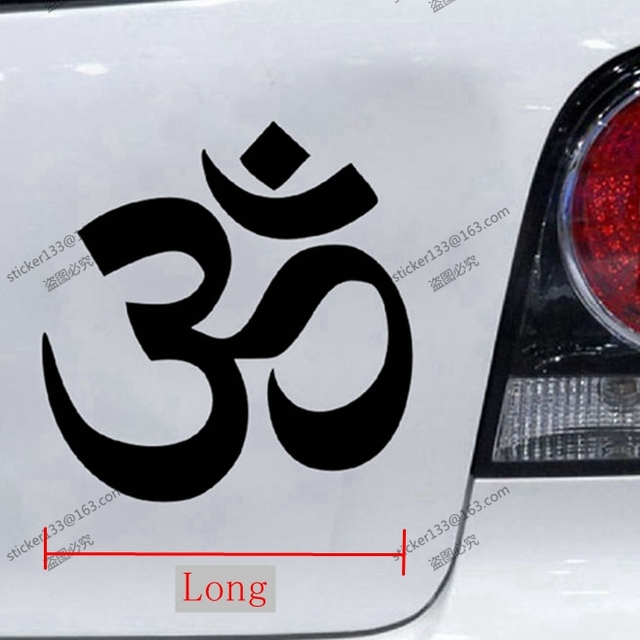 Yoga om ohm car decal sticker hindu india choose size and color
