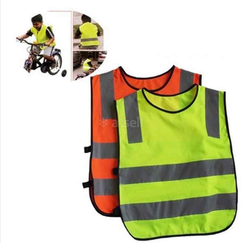 Visibilitas Tinggi Murid Anak Siswa Anak-anak Reflektif Rompi Lalu Lintas Skuter Bersepeda Sekolah Keselamatan Rompi Jaket