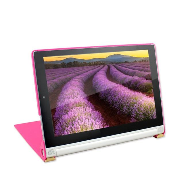 """Original de la cubierta de cuero del caso del soporte para lenovo yoga tablet 2 1050 1050f 10.1 """"placa + 8 Colores + Protector de Pantalla + Stylus Pen"""