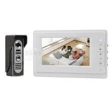 DIYSECUR 600 de la Cámara del IR 7 pulgadas TFT Pantalla a Color LCD de Video Teléfono de Puerta de Intercomunicación Timbre de La Visión Nocturna