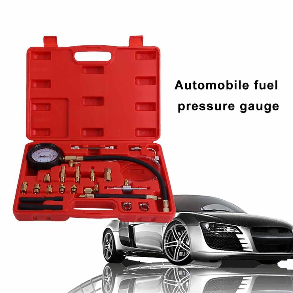 new 0-140 PSI Fuel Injection Pump Injector Tester Pressure Gauge Gasoline Car Vehicle Oil Combustion Spraying Diagnostics Tool