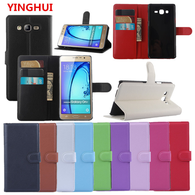 low priced 91a91 af78c US $3.18 16% OFF|For Samsung Galaxy On7 SM G600FY Galaxy On7 Pro Case Hight  Quality PU Leather Back Cover Phone Case Flip Protective Cover Bag-in Flip  ...