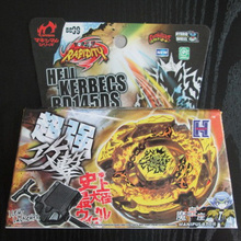 Beyblade Metal Fusion 4D Set BEYBLADE METAL FUSION GOLD HELL HADES KERBECS BD145DS LauncherKids Toys BB99