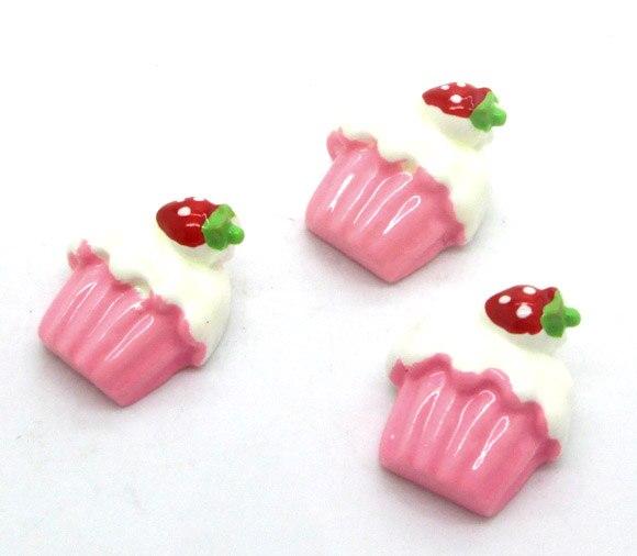 20 Pz Rosa Della Resina Ice Cream Decorazione Artigianato Flatback Cabochon Scrapbooking Fit Capelli Pinze Ornati E Decori Perline Fai Da Te