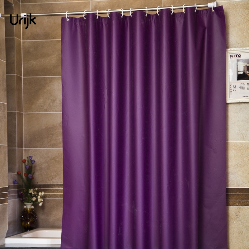 Urijk 1PC Modern Style Purple Bathroom Shower Curtains for Bath ...