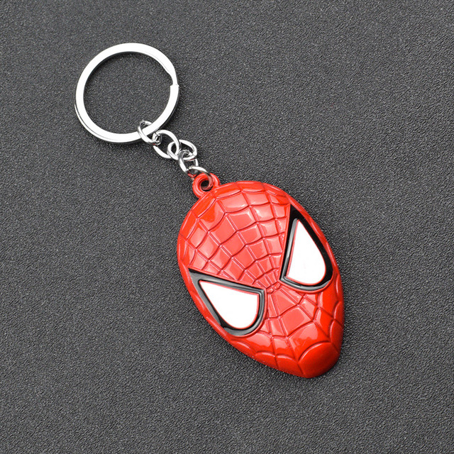 Details about  /2019 Metal Avenger Captain America Shield Spider Man Iron Man Mask Keychain Toy