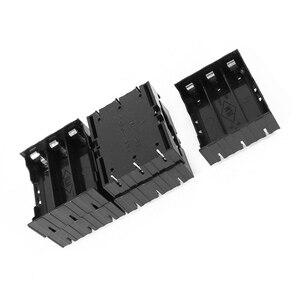 Image 2 - EDT 5 Pcs 검은 플라스틱 3x3.7V 18650 배터리 6 핀 배터리 홀더 케이스