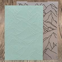 Mountain Range Stamps Plastic Embossing Folders DIY Scrapbooking Paper Card Making Craft Template