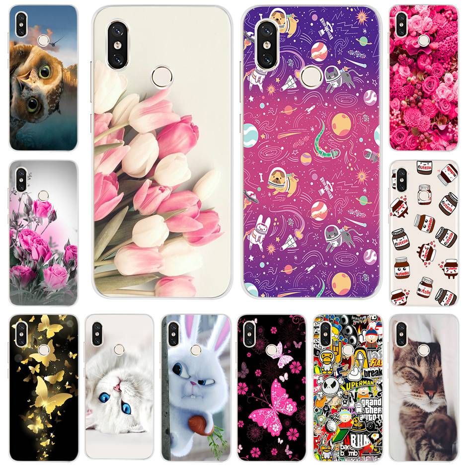 Case For Xiaomi Mi 8 Case Silicone Soft TPU Back Cover For Xiaomi Mi8 Mi 8 Cover Capa For Xiaomi Mi 8 Phone Case 6.21