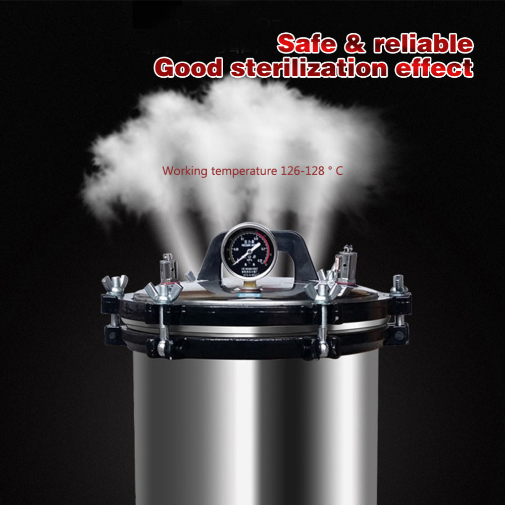 Esterilizador Autoclave de calefacción de acero inoxidable portátil 18L XFS-280A