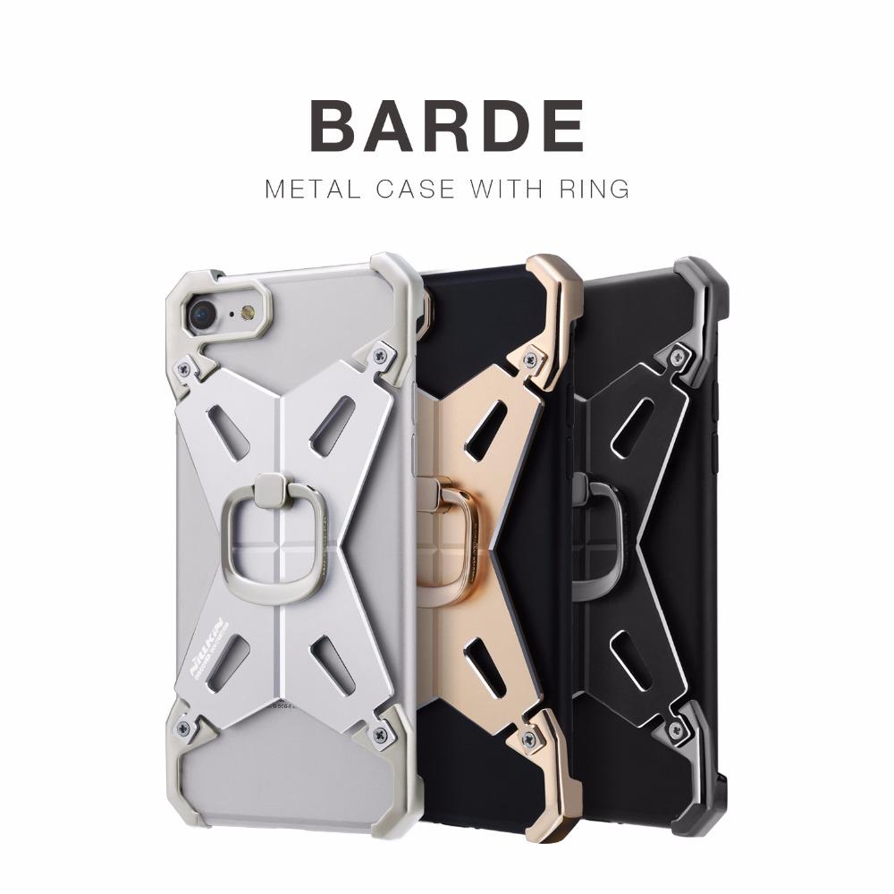 "Para Apple 7 Para iphone 7 4.7 ""NILLKIN BARDE 2 Funda de metal para iPhone 7 Funda protectora con anillo de dedo"