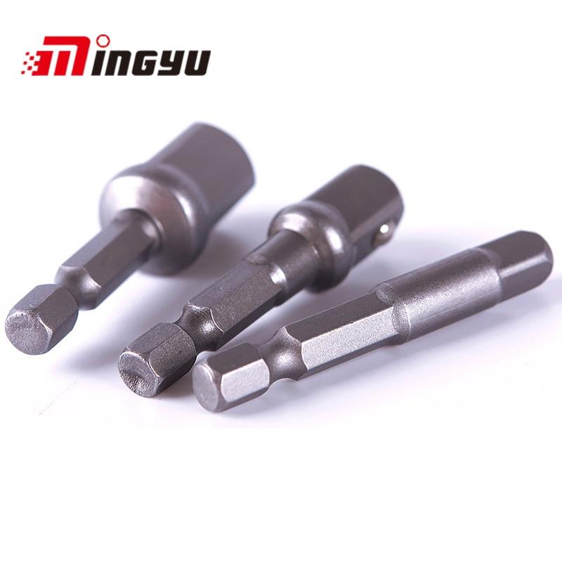 Hand Tools Tools Faithful 3pcs Socket Adapter Set 1/43/81/2 Hex Wrench Extension Bar Impact Driver Drill Bit Adaptor Long Socket Bit Adapter