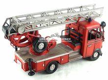 Antique classical mô hình xe cứu hỏa của Đức trong 80 s retro vintage handmade kim loại thủ công mỹ nghệ cho nhà/pub/cafe trang trí hoặc quà tặng