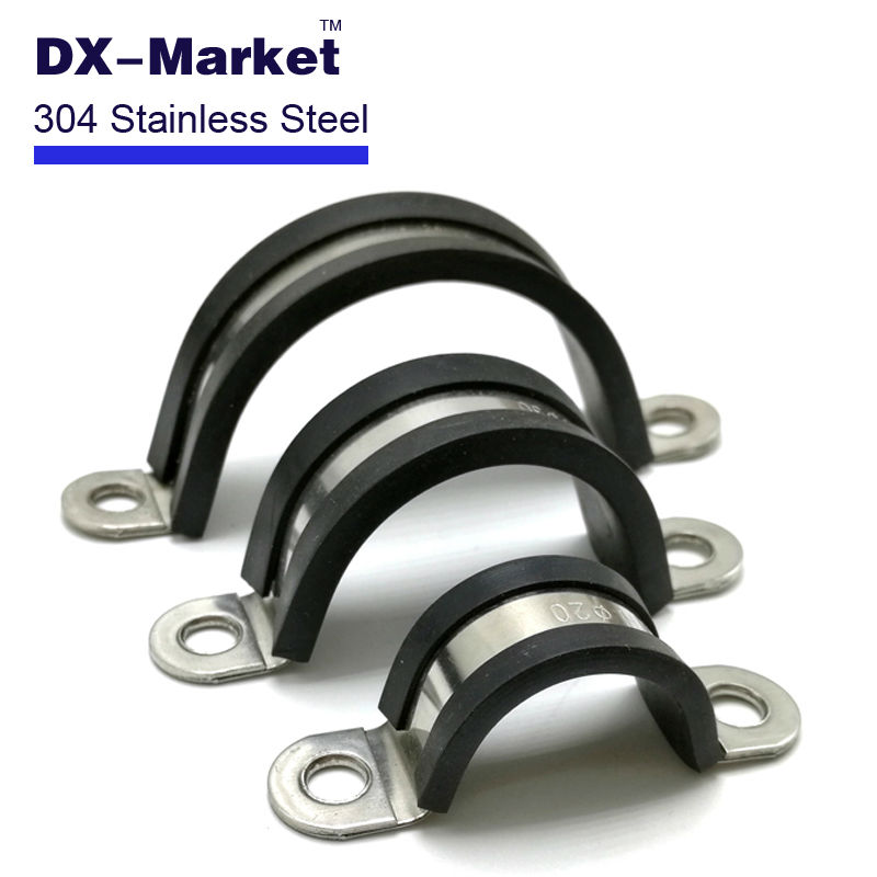Mm stainless steel rubber bar clasp saddle