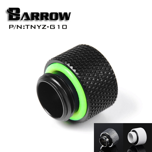 Barrow G1 / 4 extension within the dental screw Black Gold White Silver seat (extended 10mm) water cooling computer accessories barrow white black silver gold g1 4 special edition hand tighten water stop water cooling fitting tbjdt v1