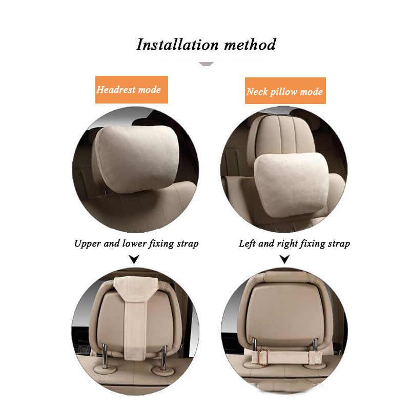 Maybach 디자인 S 클래스 슈퍼 부드러운 자동차 머리 받침/자동 좌석 커버 머리 목 휴식 쿠션/대부분의 모델에 대한 조절 가능한 자동차 베개
